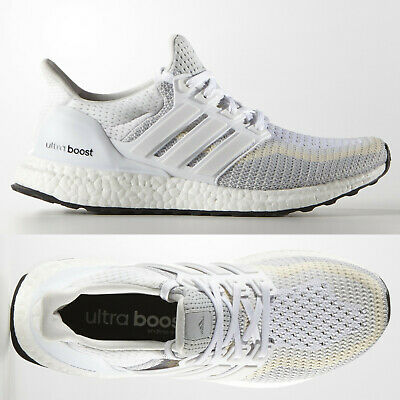 adidas Ultra Boost Womens White Grey Running Shoes Trainers AF5142 Sizes 3-8 UK