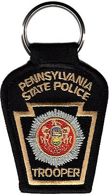 """Pennsylvania State Police Patch Key Chain 2 3/4"""" tall by 2"""" wide - NEW"""