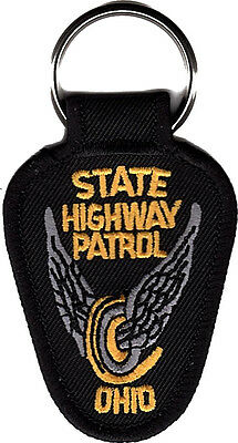 """Ohio Highway Patrol Patch Key Chain 2 3/4"""" tall by 1 7/8"""" wide - NEW"""