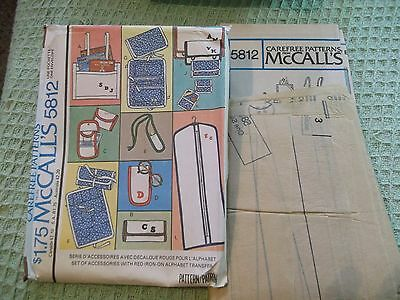 1977 McCall's 5812  Set of accessories pattern Bag Wallet Cases Bags 13 items