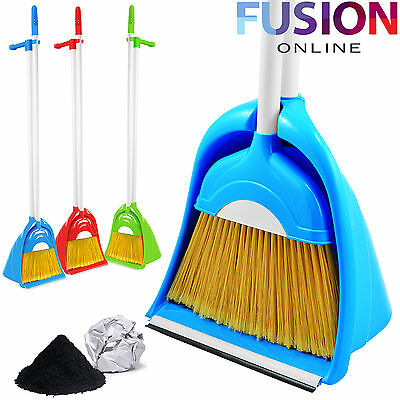 Strong Long Handle Dustpan Dust Pan And Brush Set Garden Broom Sweeper
