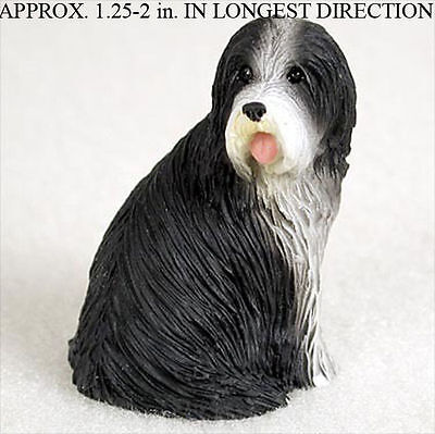 Bearded Collie Collectible Mini Resin Hand Painted Dog Figurine