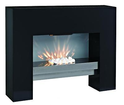 Free Standing Wall Mounting Electric Fireplace Fire Heater Black Led Light