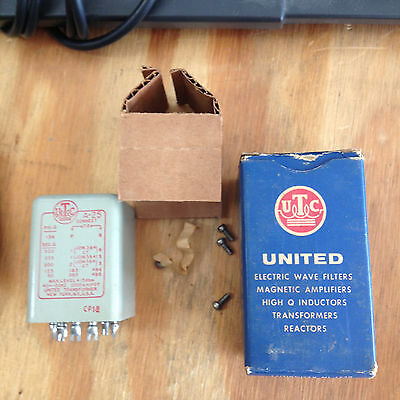 NOS NIB UTC A-25 Plate to Line Transformer