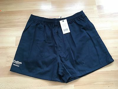 Bnwt-Cotton Traders Navy Twill Rugby Shorts Size Small