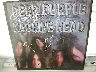 Deep Purple Signed Lp Machine Head 1972 Ian Gillen X5