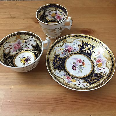 Antique London Shape Teacup Trio