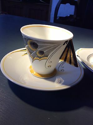 Shelley Vogue Rare Butterfly handled Trio.