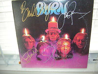 Deep Purple Signed Lp Burn David Coverdale X5