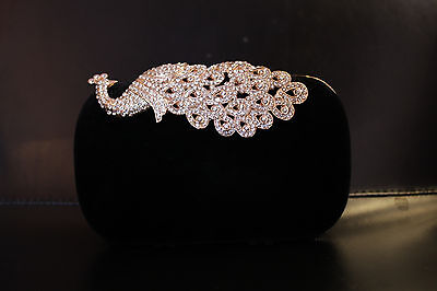 Formal Evening Purse (Black Peacock Clutch)
