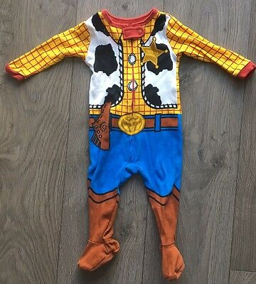 Disney Store Toy Story Woody Baby grow Sleep-suit 6-9Mths Months Costume Cowboy
