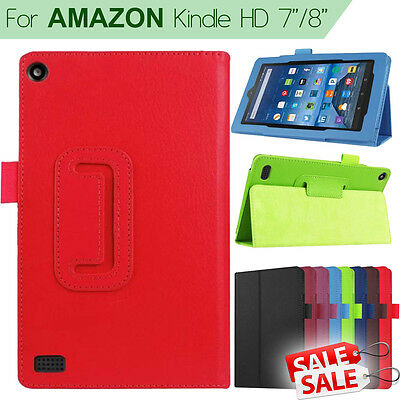 FOLIO LEATHER STAND CASE COVER For Amazon Kindle Fire 7