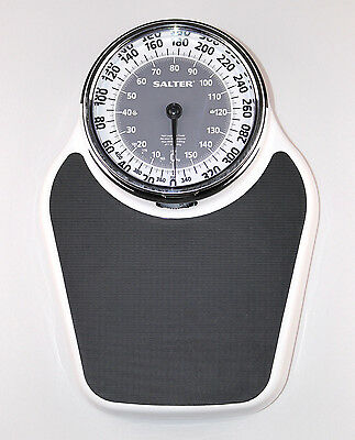 SALTER Professional Mechanical Dial Weight Scale White Powder Chrome Bathroom