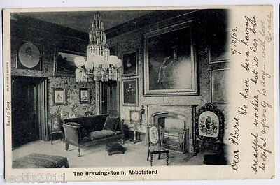 Abbotsford House, Roxburgshire, Scotland old Postcard - Home of Sir Walter Scott