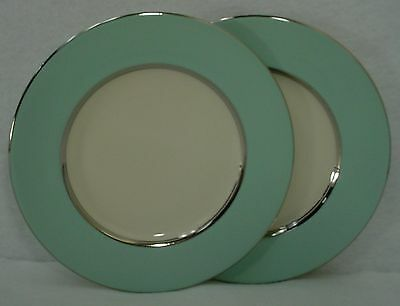 "CASTLETON china CASTLETON TURQUOISE pattern BREAD PLATE 6-1/4"" set of TWO (2)"