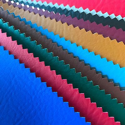 """Vinyl Fabric Faux Leather Pleather Auto Upholstery 54"""" Wide By the Yard"""