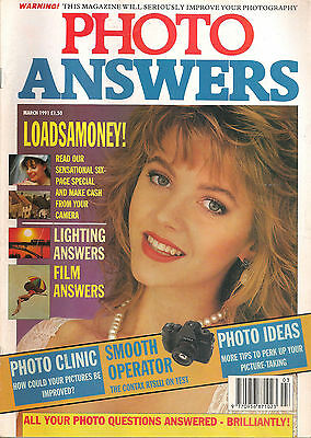 Vintage Photo Answers Photography Magazine March 1991: Lighting Answers