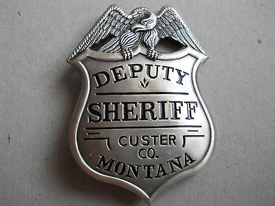 VINTAGE 1920's DEPUTY SHERIFF CUSTER Co. MONTANA  COLLECTOR'S POLICE BADGE