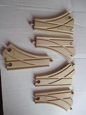 Wooden Train Switch Track Lot of 5 Thomas Brio Etc Compatible Excellent Cond