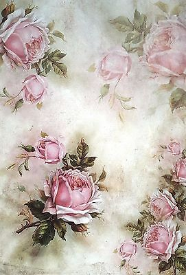 Rice Paper for Decoupage  A3 - Flowers Around - Scrapbooking - Sheet - Craft