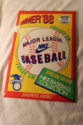 Vintage NIKE Summer 1988 Major League Baseball Collection 16 XL Cards&Price List