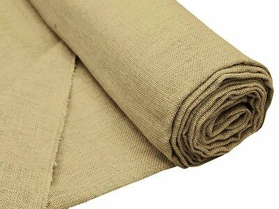 """Brown BURLAP JUTE FABRIC 60"""" WIDE x 10 yards DIY Country Wedding Party Sew Craft"""