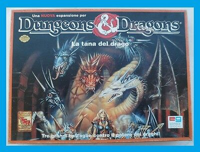 Dungeons E Dragons La Tana Del Drago Tsr / Eg 1992 In Italiano
