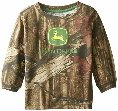 John Deere Little Boys' Long Sleeve Trademark Tee Mossy Oak Toddler