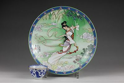 20th century, A set of 6 chinese porcelain plates