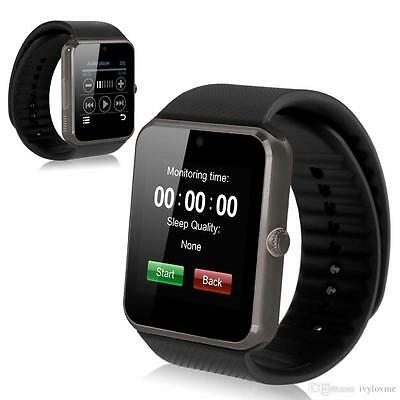 Smart Watch Bluetooth For Samsung iPhone HTC LG Android Ios Wrist Phone Black