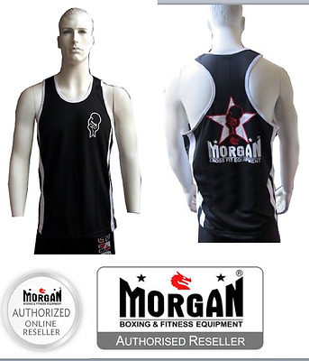 Morgan Crossfit Training Singlet Kettlebell Weight Lifting Muscle Workout Smlxl