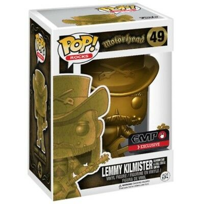 Few Left- LTD EDITION GOLD Funko Pop LEMMY Motorhead Rocks Figure RAINBOW STATUE