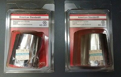 (LOT of 2)American Standard replacement handle Cadet W/ hot & cold button HC-267