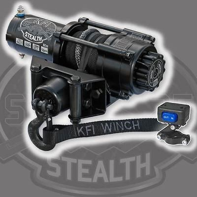 KFI Stealth 2500 Synthetic Winch + Mount- Can-Am Renegade 800/850/1000 2012-2016