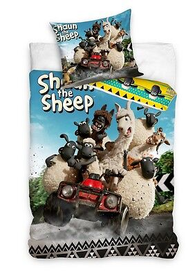NEW SHAUN The SHEEP Single Bed Duvet Cover Set 100% COTTON