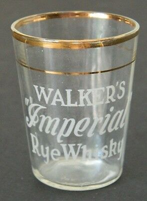 Early Hiram Walker's Imperial Rye Whisky Shot Glass, Vintage,  Pre-Prohibition?