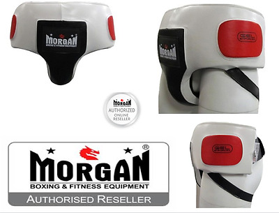 Morgan Leather Abdominal Groin Guard XS S M L XL belly ABDO HIP BOXING PROTECTOR