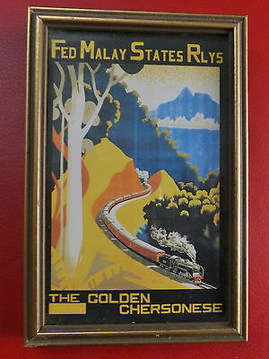 Federation Malay State Railways Golden Chersonese Train Raffles Hotel Singapore