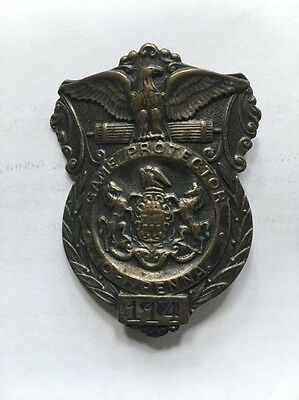 "Obsolete PENNSYLVANIA GAME COMMISSION Protector Badge 2"" #114"