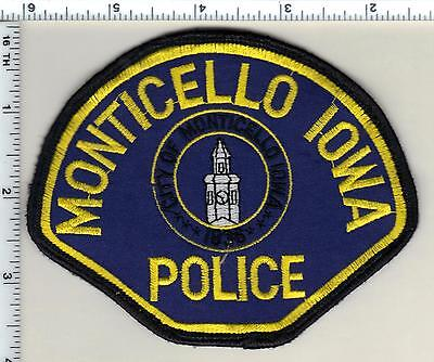 Monticello Police (Iowa) uniform take-off Shoulder Patch from 1992