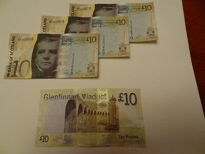 2009 BANK OF SCOTLAND £10 BANKNOTE Brand New, Very Fine condition
