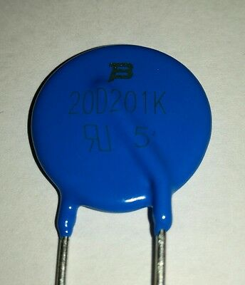 1x Bourns 20D201K MOV-20D Series Metal Oxide Varistor. See description