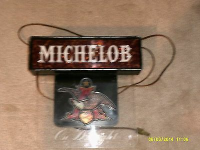 Vintage Michelob Light Up Sign Looks And Works Great Must Have For Man Cave-Nice