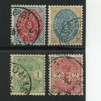 Danish West Indies 1896-1903 Arms Used SCV $54