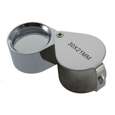 New 30X Glass Magnifying Magnifier Jeweler Eye Jewelry Loupe Loop HL