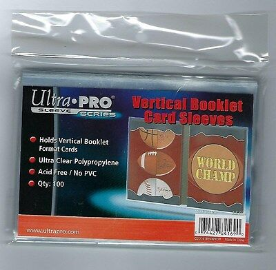 Ultra PRO Vertical Booklet Trading Card Sleeves (100 Count Pack), Clear
