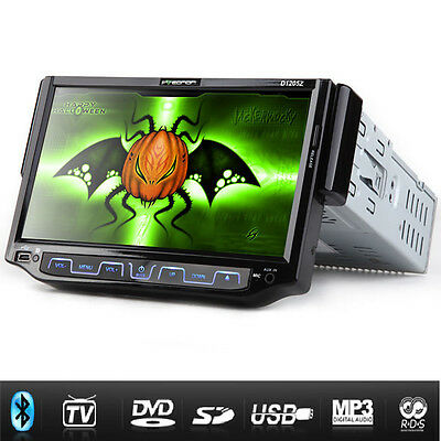 """7"""" Digital Touch Screen Motorized Single Din DVD Audio Player with Analog TV"""