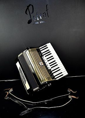 ORIGINAL VINTAGE TOP GERMAN PIANO ACCORDION WELTMEISTER - 48 bass, 5 registers