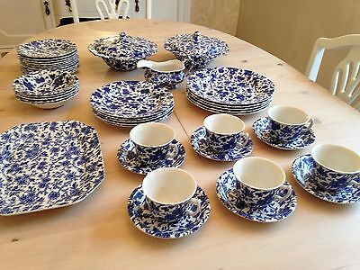 Various Burleigh 'Arden' Blue And White China