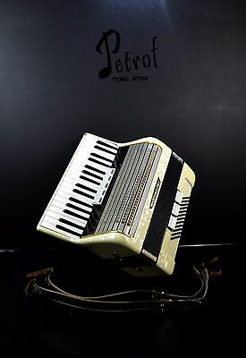 VINTAGE GERMAN TOP PIANO ACCORDION WELTMEISTER 60 bass,8 reg. (5+3)@PETROF STORE